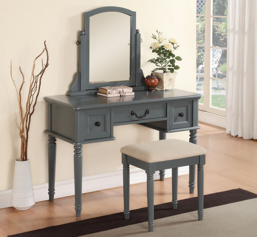 Emma Oak Vanity Table With Built In Picture Frames In 2019