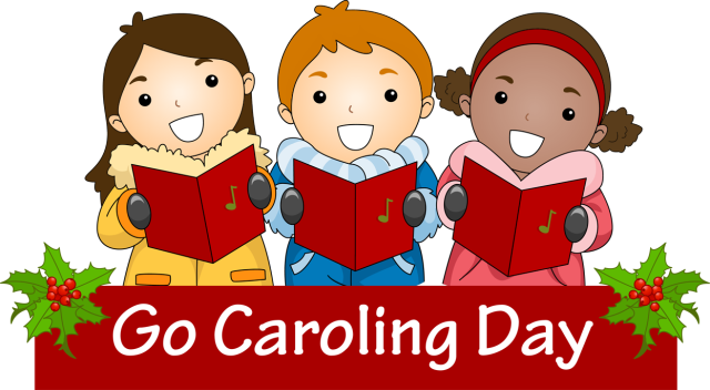 Clip Art for Cele3brate Caroling Day 2014 Royalty free