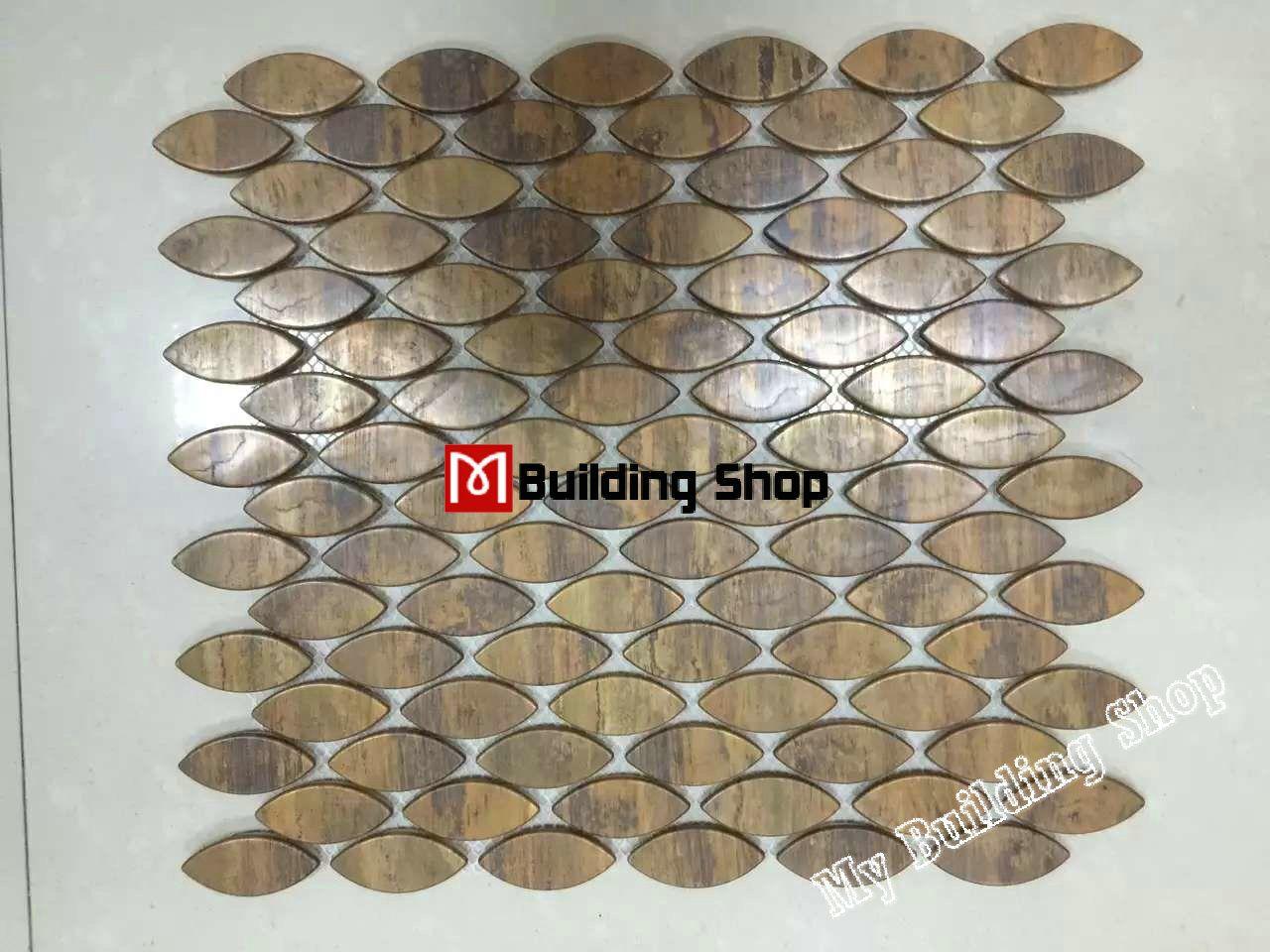 3d Metal Mosaic Kitchen Wall Tile Backsplash Smmt070 Copper