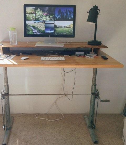 Diy Adjustable Desk Amazing Adjustable Standing Desk Diy Modern