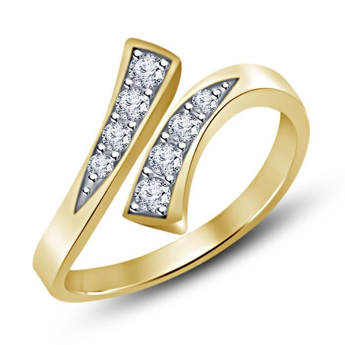Jewellery & Watches Heart Shape Round Vvs1 Diamond 14k White Gold Finish Ladies Adjustable Toe Ring New Varieties Are Introduced One After Another Fashion Jewellery