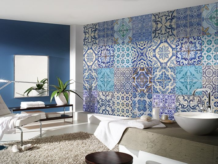 Fliesen Mit Tapete überkleben orient feeling für ihr zuhause marokkanische fliesen tapete aus