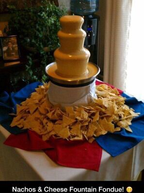 Nachos And Cheese Fountain Daughter S Party Pinterest Cheese