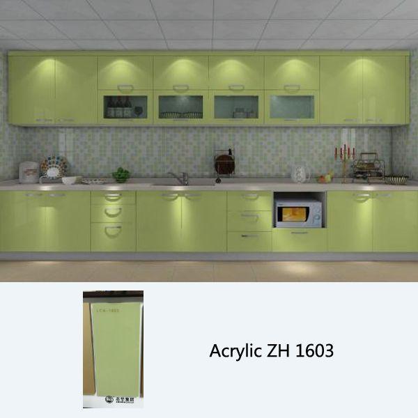 High Gloss Green Acrylic Kitchen Cabinet With Modern Design High Gloss Kitchen Cabinets Kitchen Modular Gloss