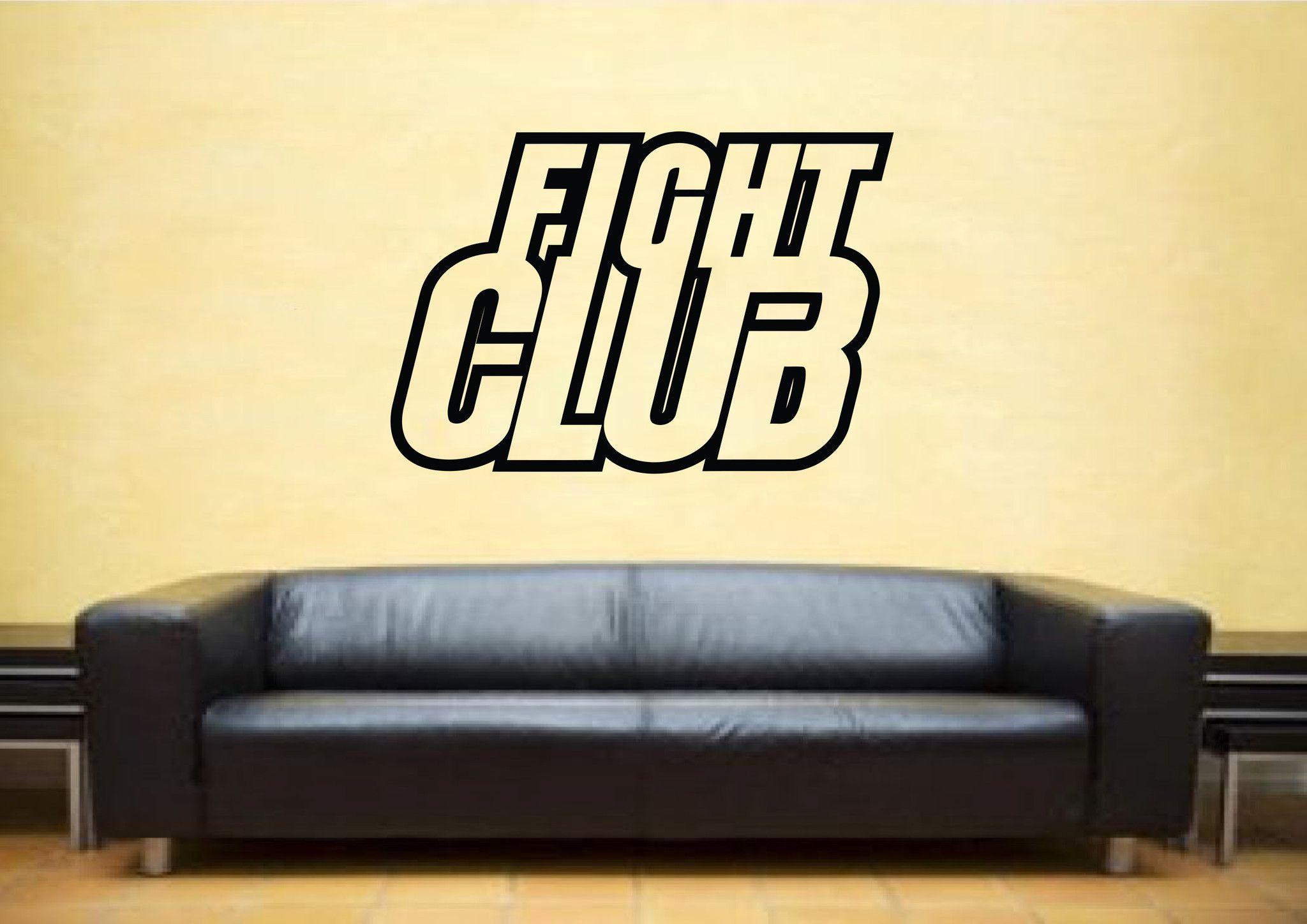 Fight Club Movie Logo Wall Art Sticker – iwallstickers   vinil ...