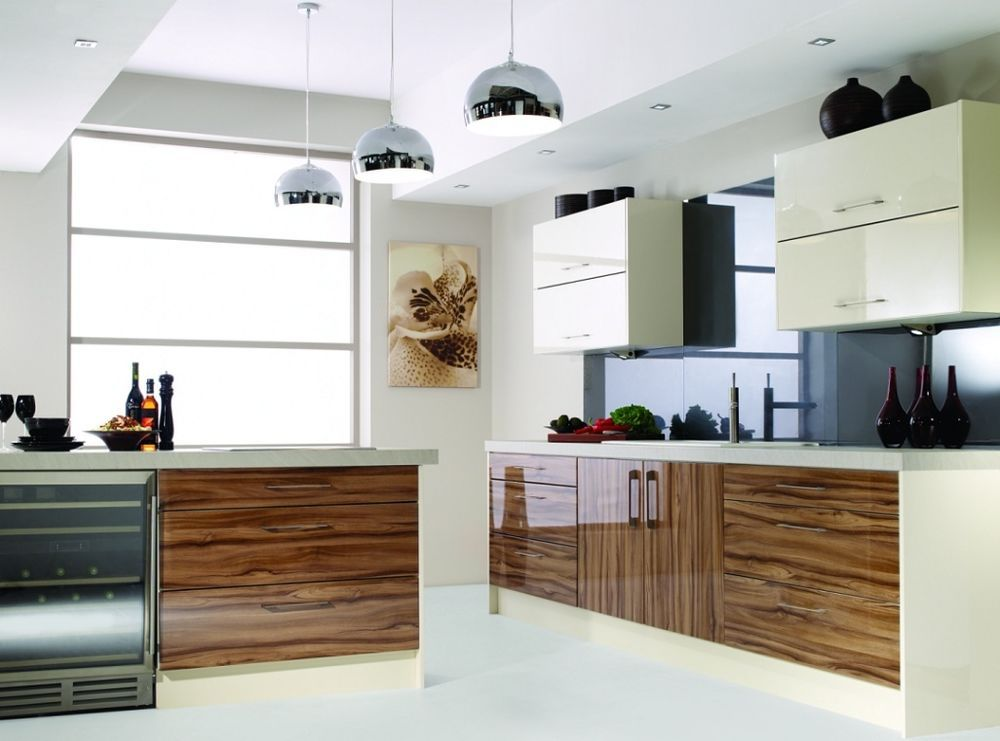 Best Olive Wood Zebra Zebrano Gloss Complete Kitchen Units New 400 x 300