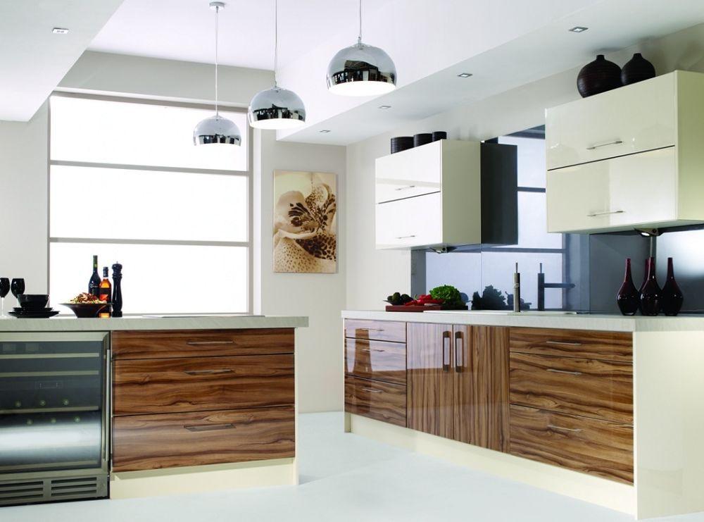 Olive Wood Zebra Zebrano Gloss Complete Kitchen Units New Not Used Or Ex Display Kuchnia