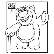 The Hugging Bear Coloring Pages