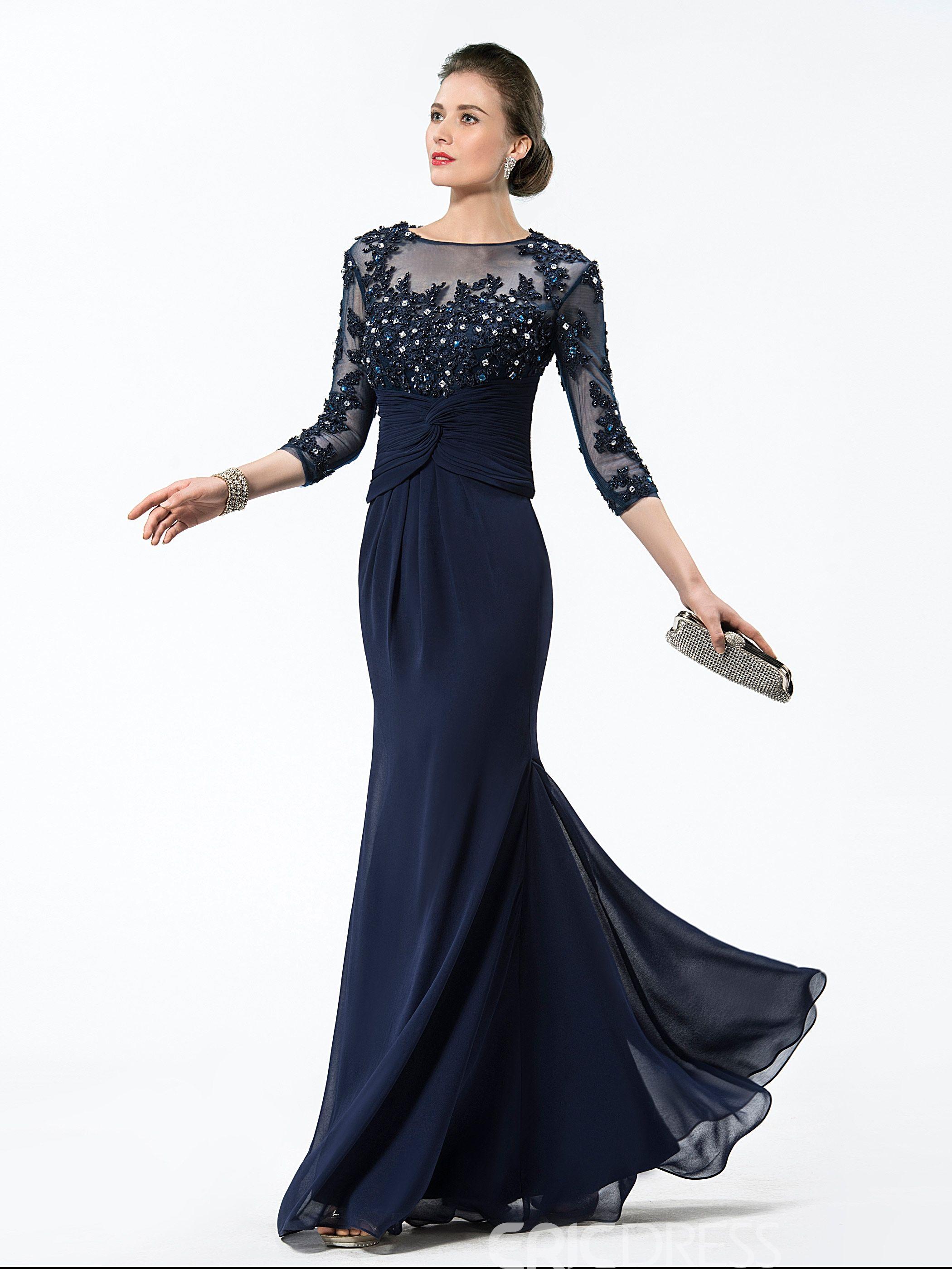 1baf2f0b3b62 Ericdress Jewel Appliques/Sequins Mother Of The Bridal Dress ...