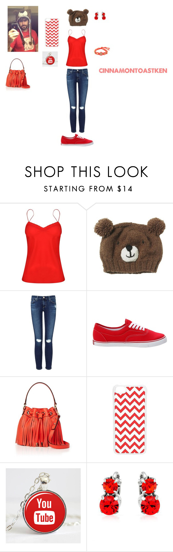 """""""CinnamonToastKen"""" by littleredandbigbadwolf ❤ liked on Polyvore featuring Ted Baker, AG Adriano Goldschmied, Vans, Milly, CellPowerCases and Ettika"""