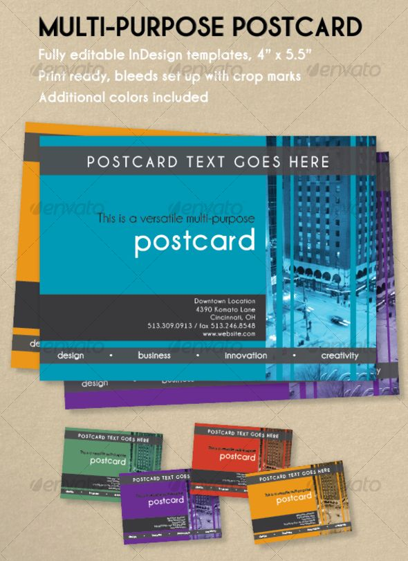 Multi Purpose Postcard Template Indesign Indd Download Here Http