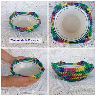 Handmade Homespun Microwave Bowl Cozy Pattern