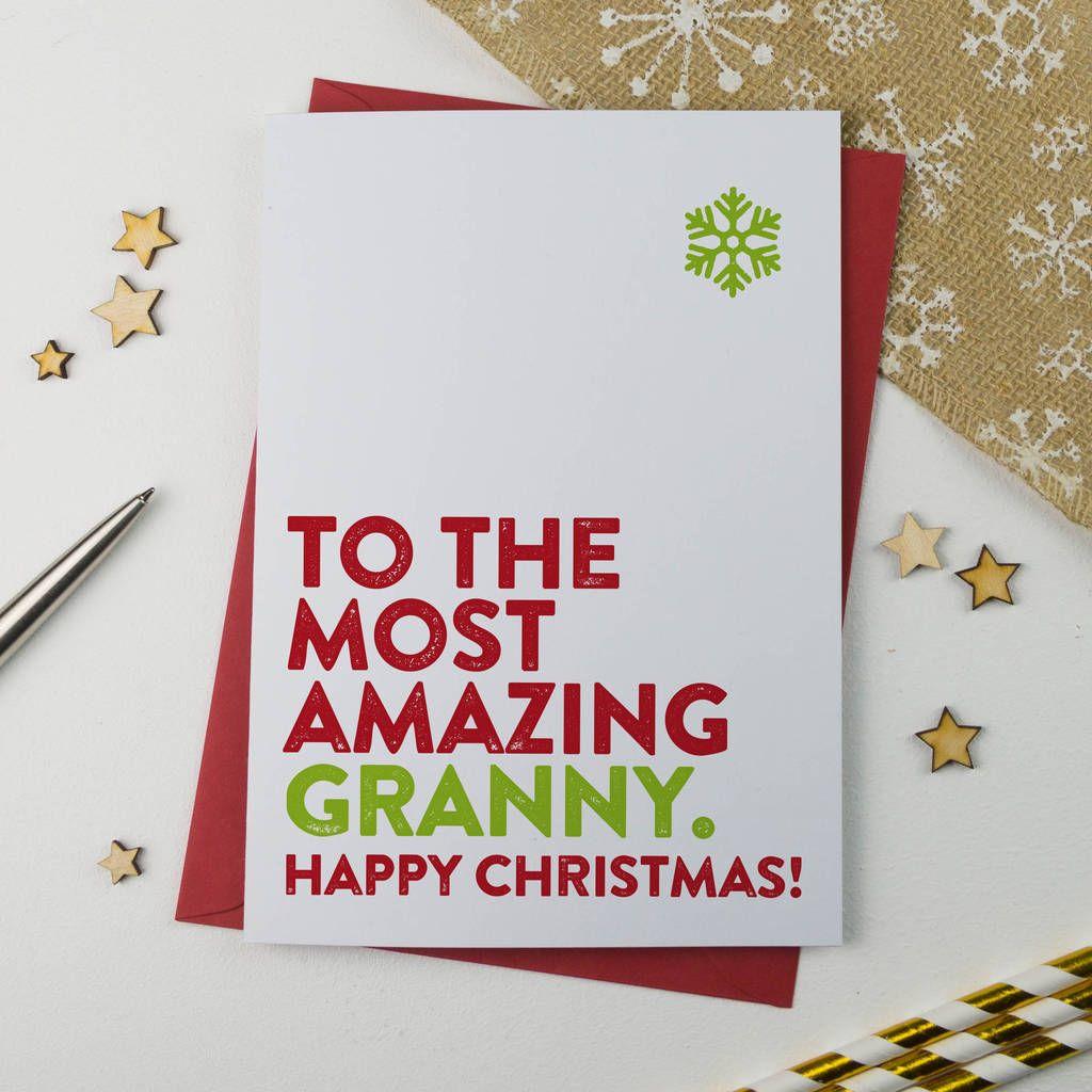 Most Amazing Nanna, Granny, Nan, Nanny Christmas Card