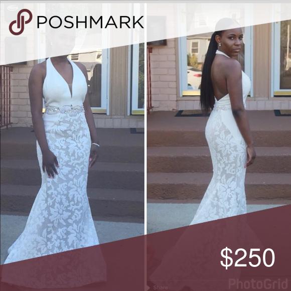 White Lace Prom Dress My Posh Closet Pinterest Prom Dresses