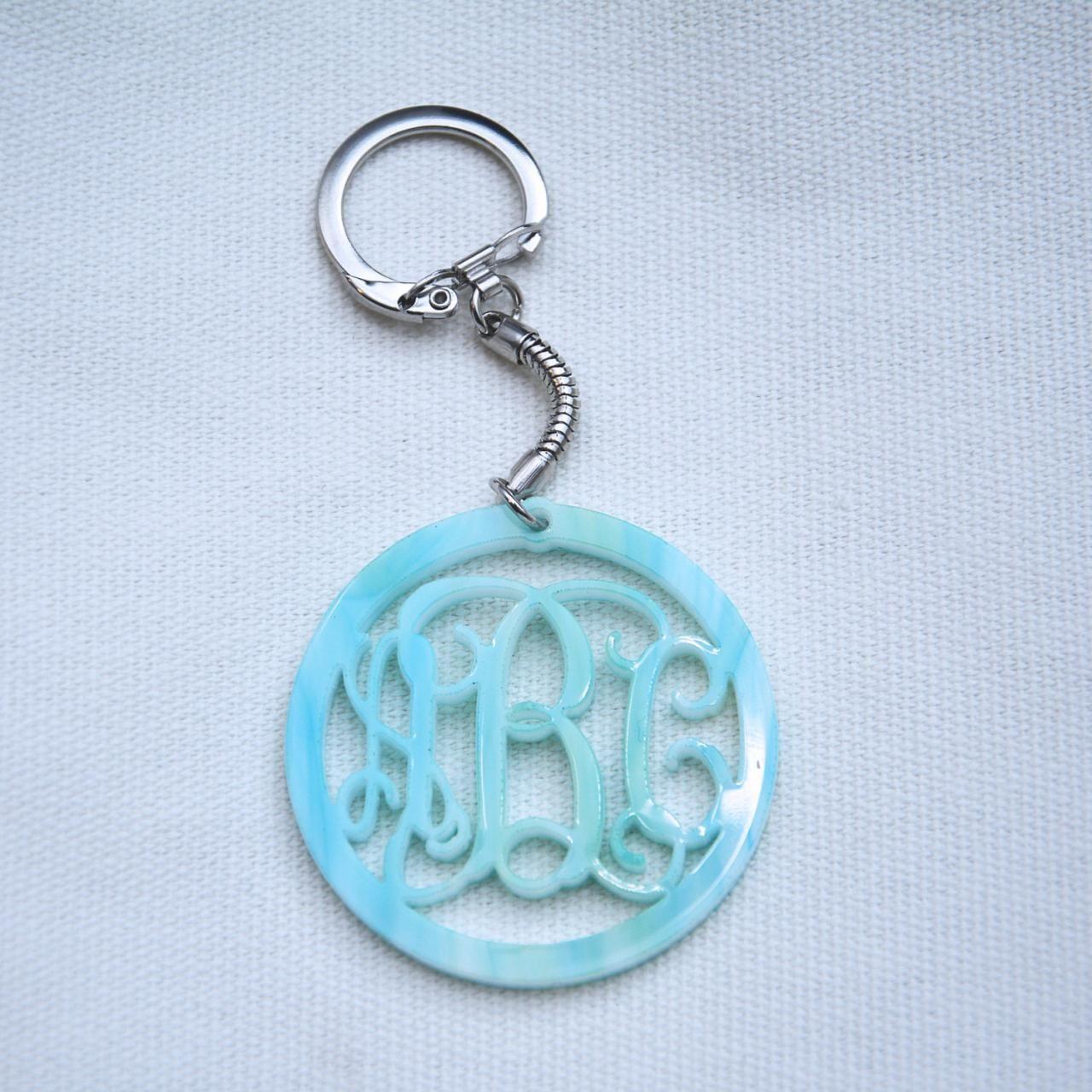 1.5 inch Personalized Monogram Acrylic Custom 3 Initials Monogram Bracelet