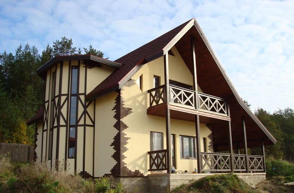 Фасад дома фото частных домов | DEPSTROI.RU в 2020 г ...