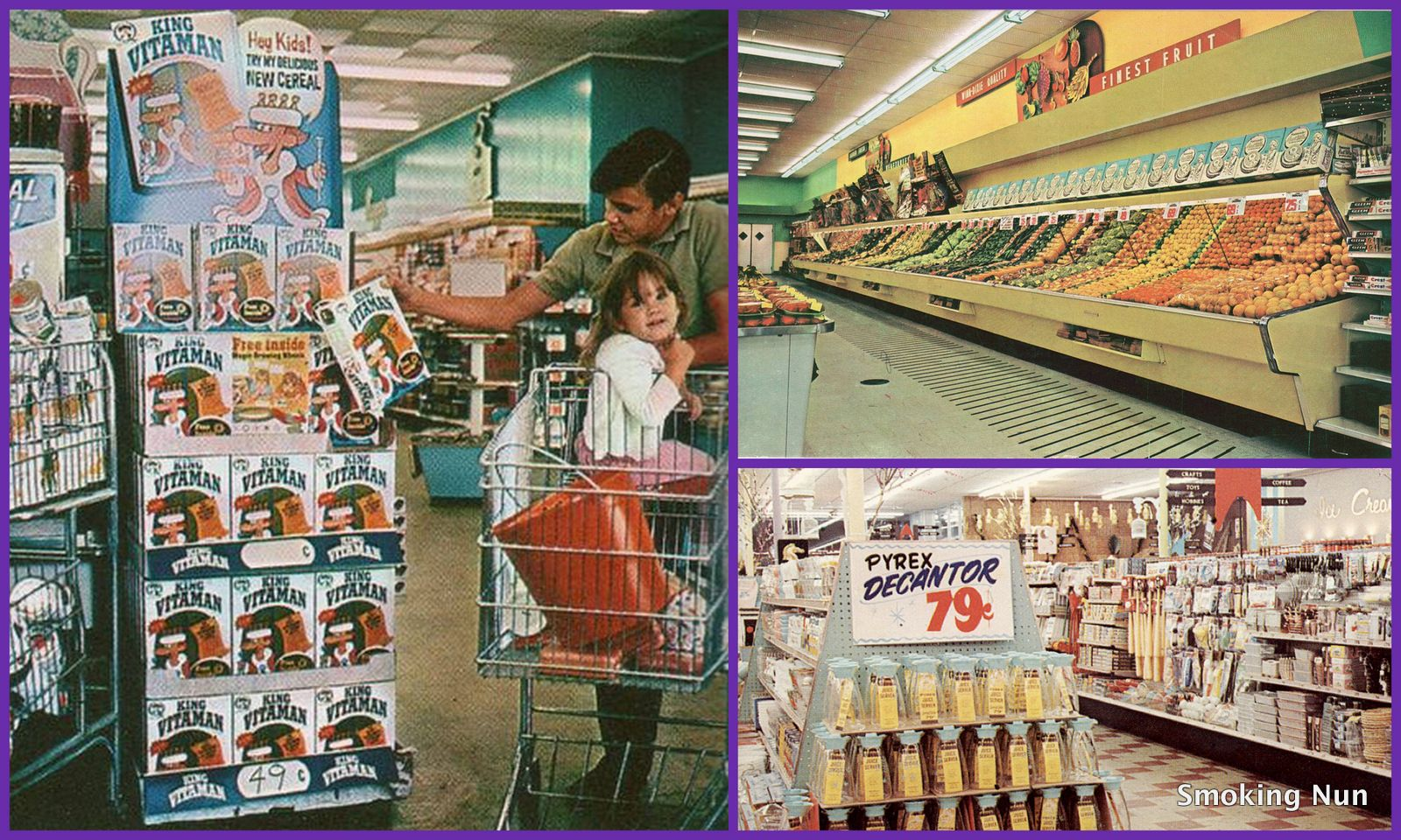 A sweet retro walk down the aisles of 1960s1970s