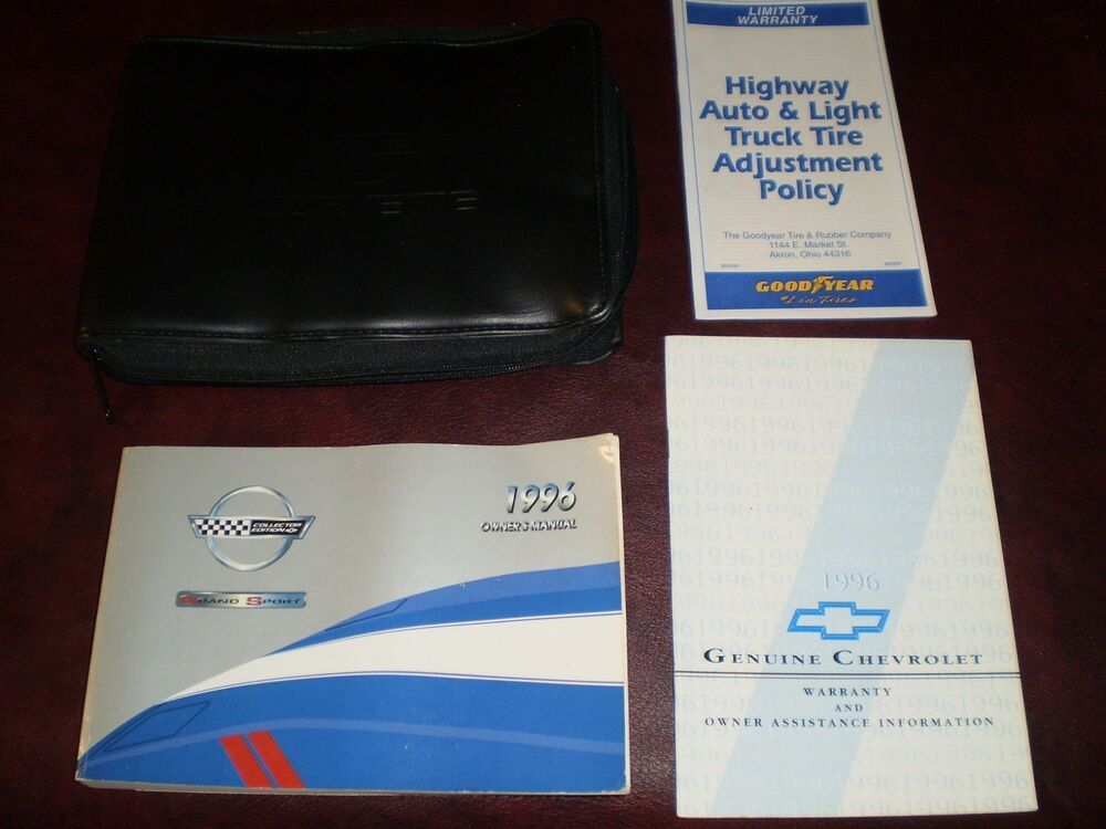 Ebay Sponsored 1996 96 Chevrolet Corvette Coupe Convertible Original Owners Manual Books Case Chevrolet Corvette Chevrolet Owners Manuals