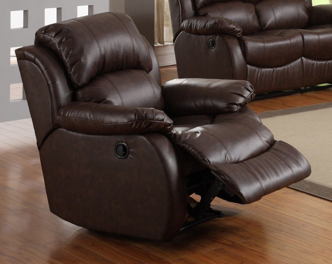 Leather Recliner With Comfortable Foot Rest