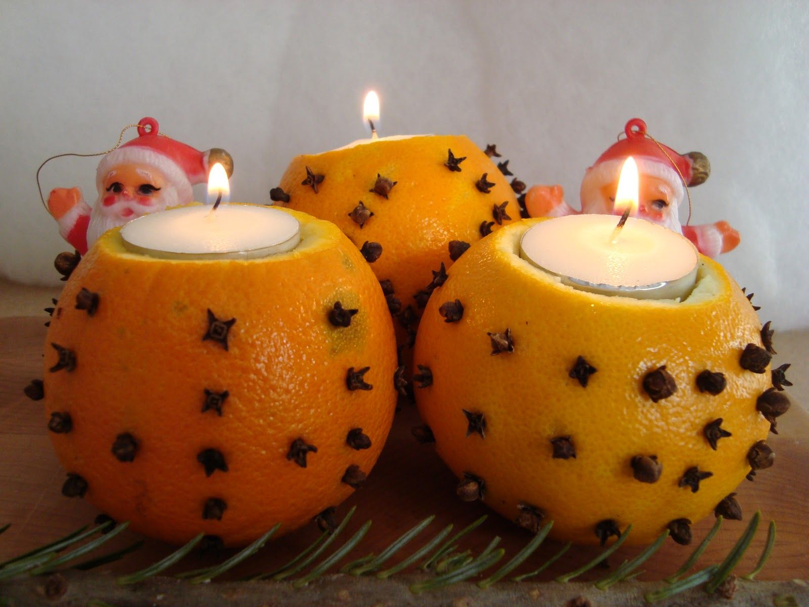 Merry Christmas Candle Crafts Fruit Decoration Ideas for Kids Children