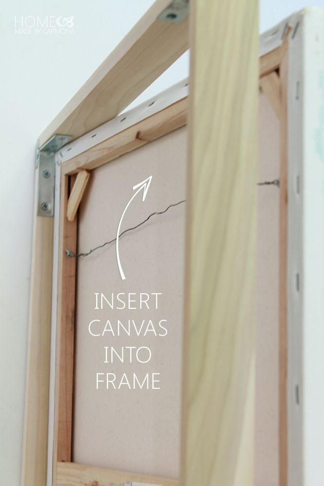 floating frame insert canvas canvas artworkdiy