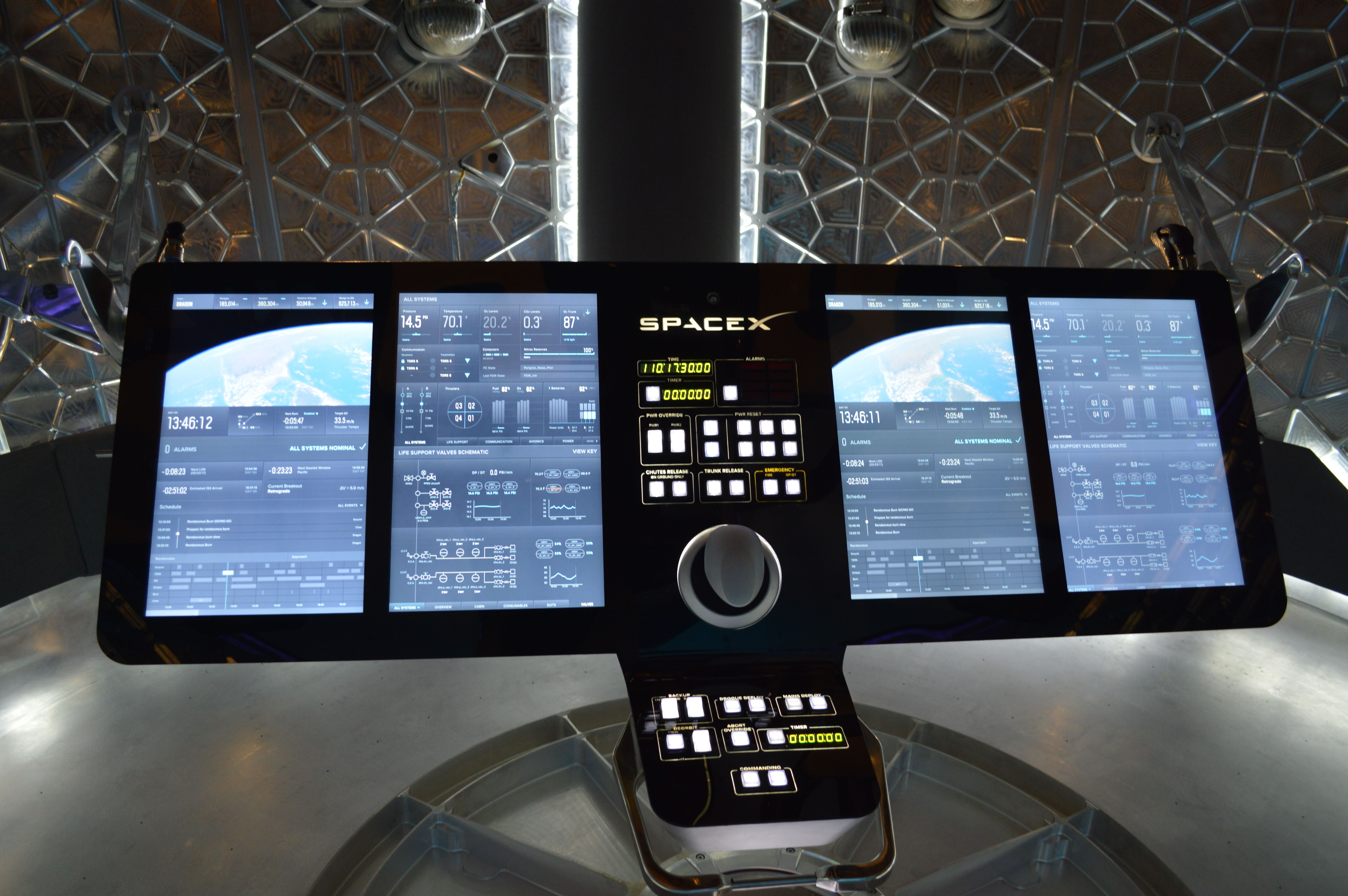 Hi Res Picture Of Control Panel In Dragon V2 Spacex Tech Image