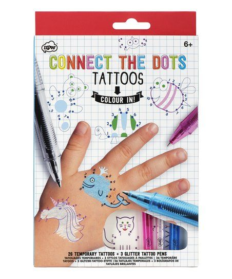 Henna Tattoo Kits For Kids: Connect The Dots Temporary Tattoos Set