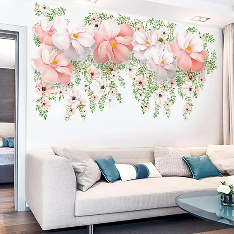 Large Flower Wall Decals Wall Decor Bedroom Flower Wall Decals Floral Wall Decals