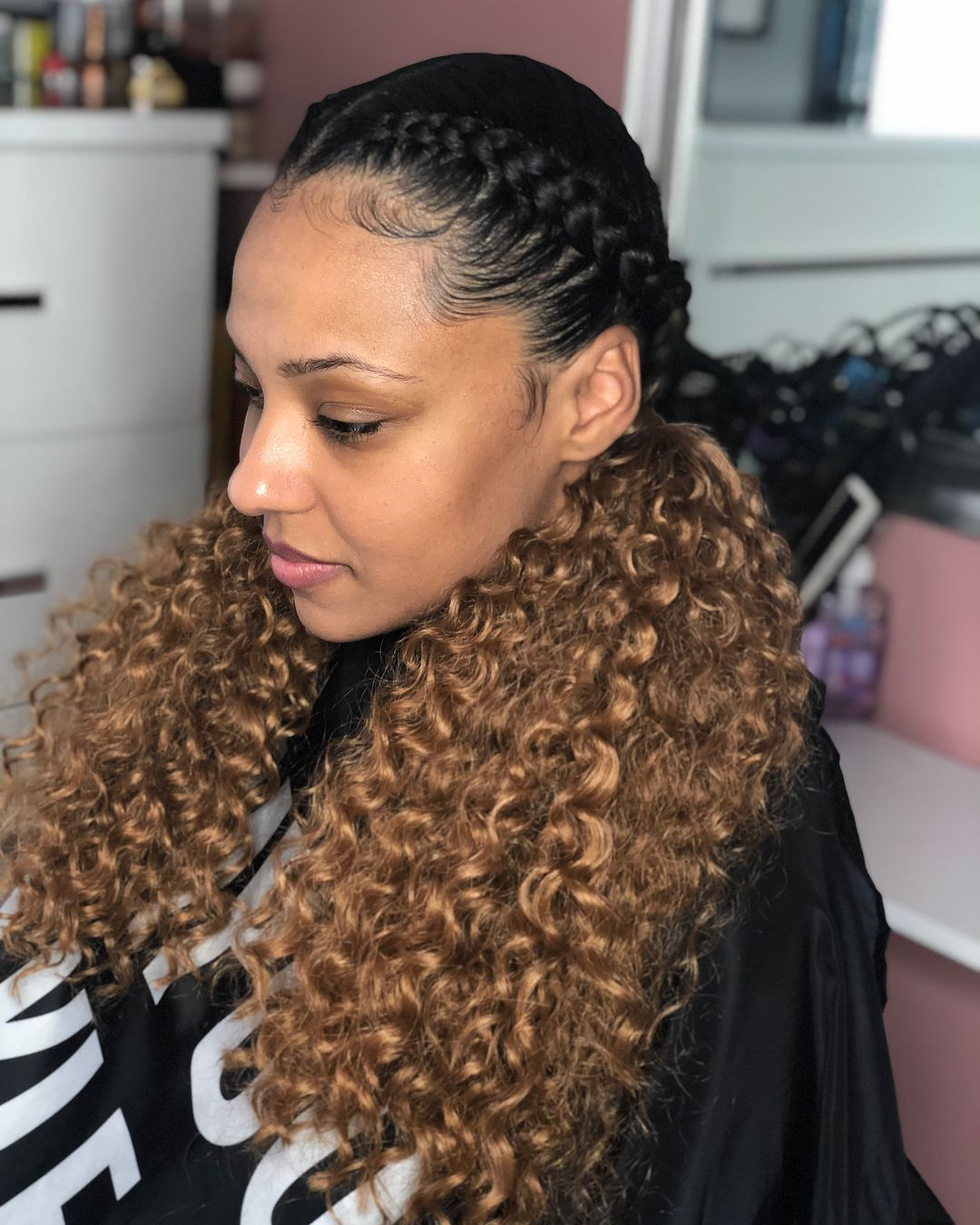 21 Ideas Hair Styles Cornrow Two Braids For 2019 Two Braid Hairstyles Hair Styles Natural Hair Styles