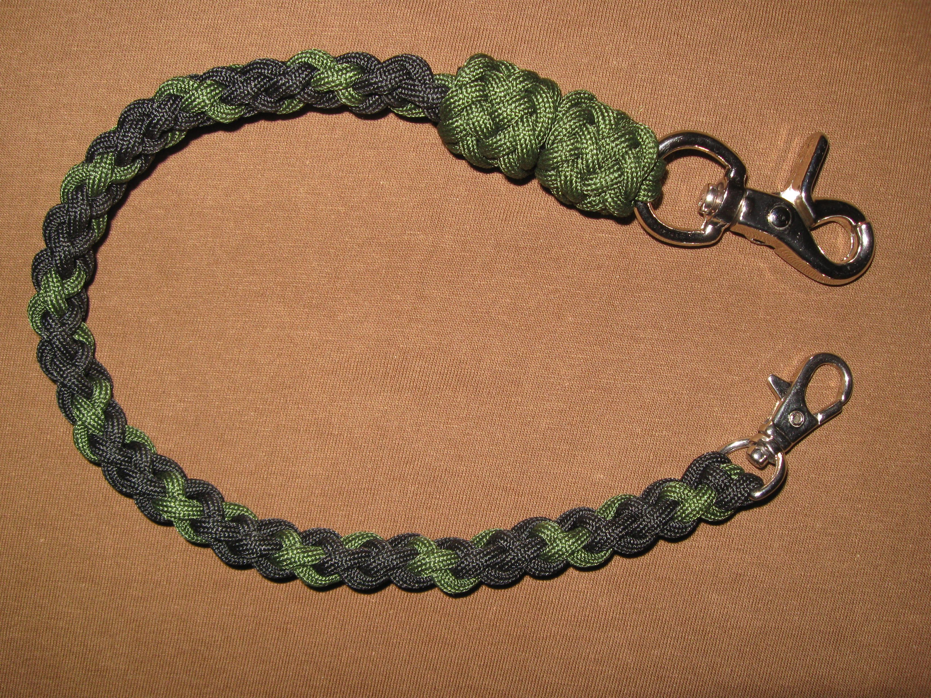 6 strand wallet chain paracord wallet chain 550cord for How to make a paracord wallet chain
