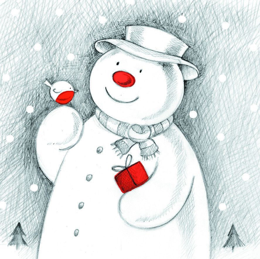 Support Make-A-Wish with this cute Snowman and Robin card | Charity ...
