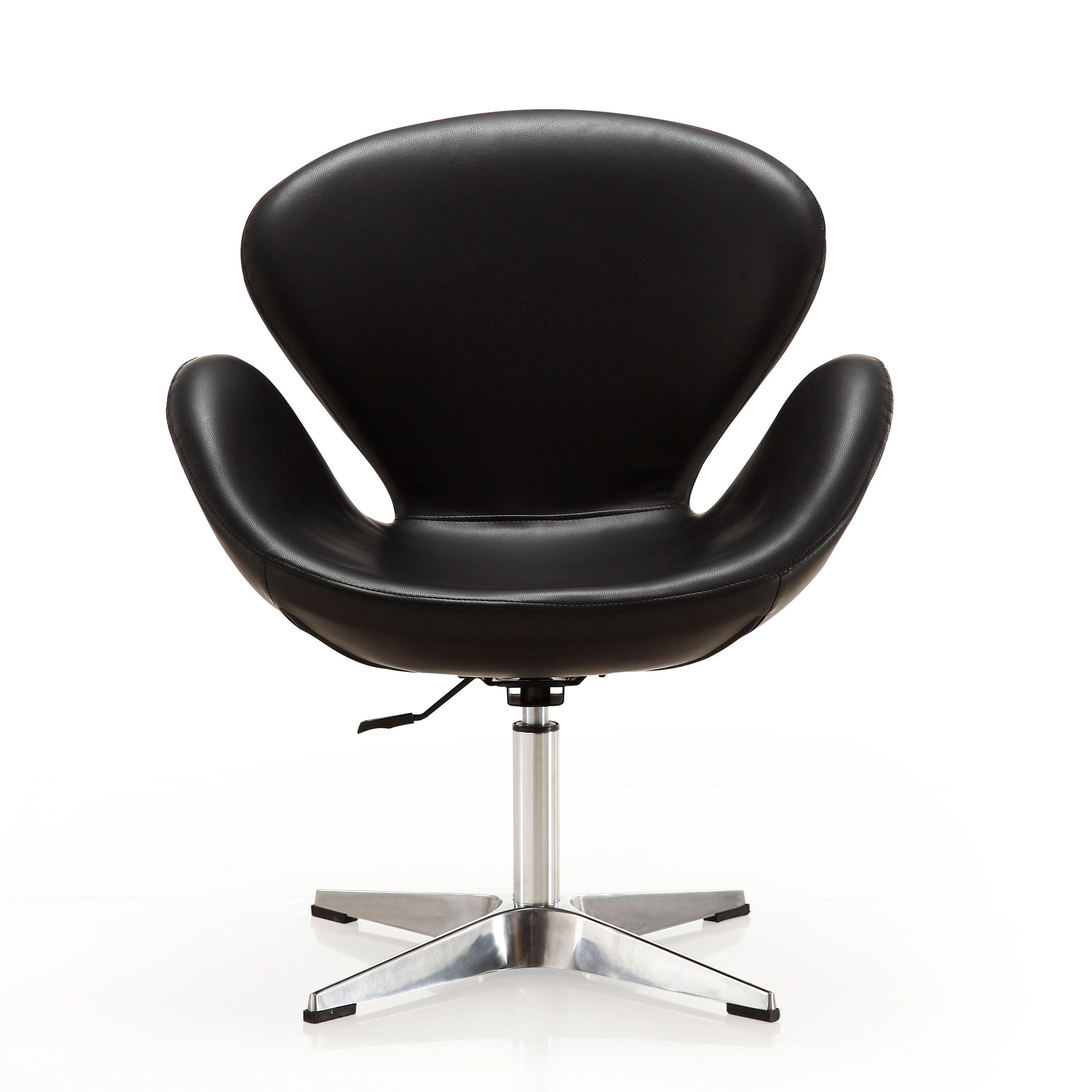 Fine Raspberry Leatherette Adjustable Swivel Accent Chair Cjindustries Chair Design For Home Cjindustriesco