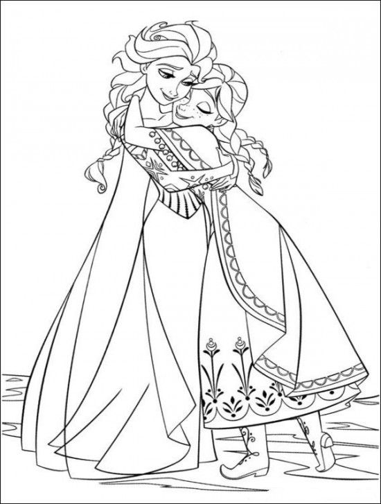 Full Size Free Printable Frozen Coloring Pages