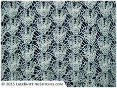 LACE KNITTING No.15 | Shaped Diamonds stitch