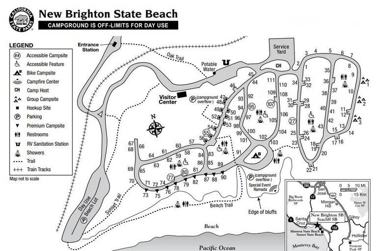Image Result For New Brighton State Beach Campground Map Camper Van