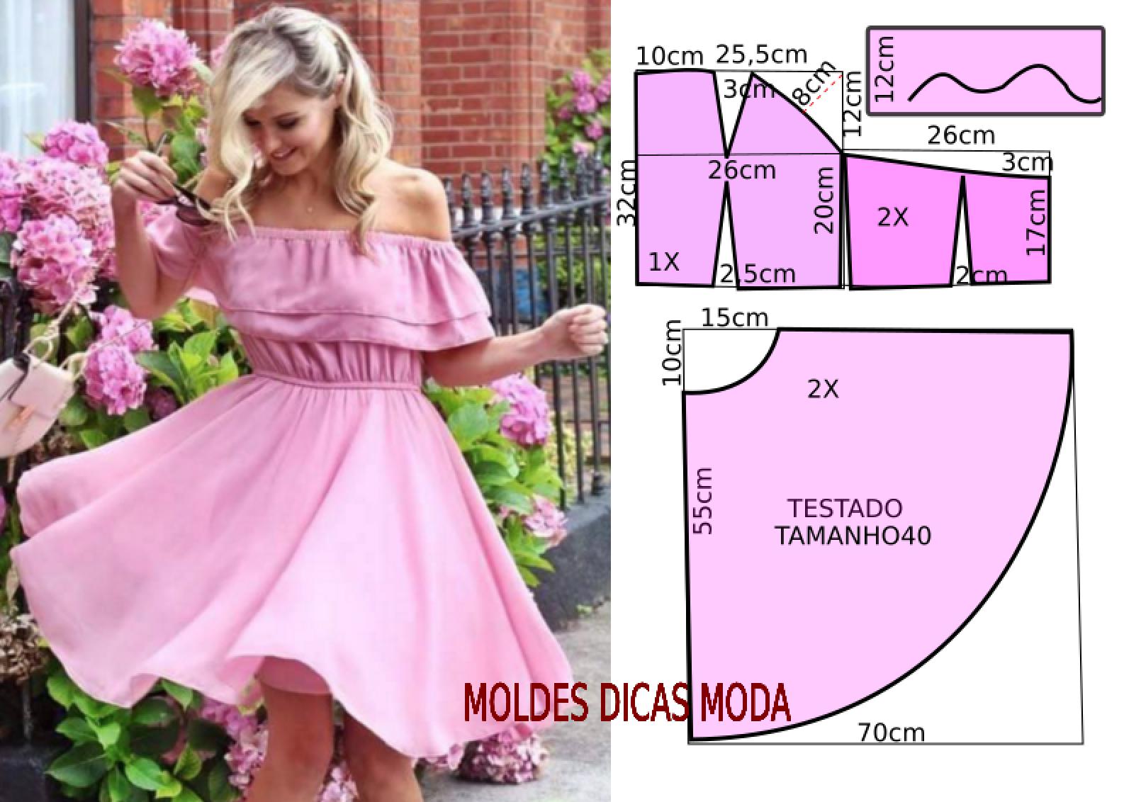 VESTIDO ROSA GODE   Pinterest   Rosas, Vestiditos y Costura