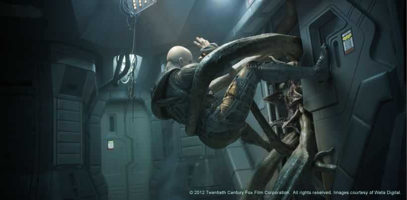 for Prometheus xenomorph mural