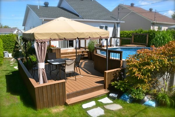 Charmant Diy Wpc Outdoor Decking Flooring,composite Decking Prefab,how To Set Up  Gazebo On A Deck