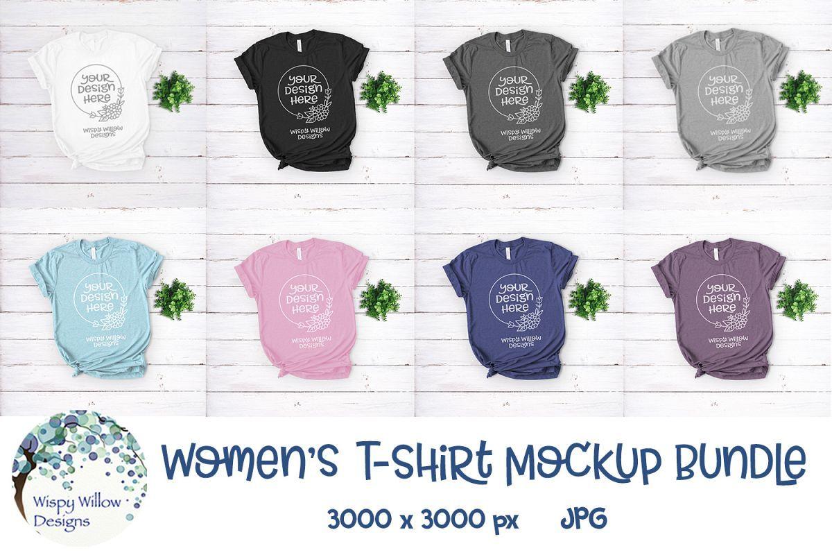 Download Women S T Shirt Mockup Bundle Shirt Mockup T Shirts For Women Tshirt Mockup