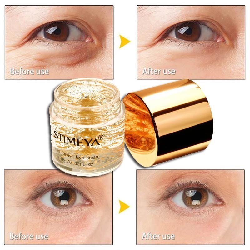 Gold eye cream anti aging remove dark circles repair for eye bags