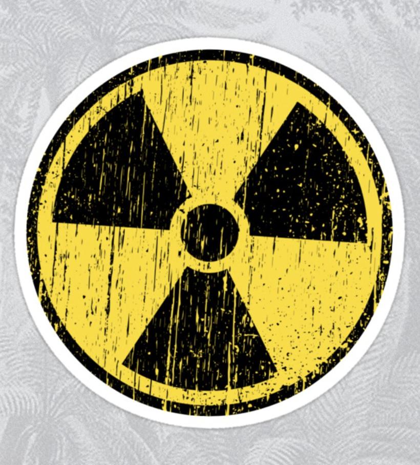 Worn Distressed Nuclear Radiation Symbol Black Border Sticker By Mhea Nuclear Radiation Symbols Border