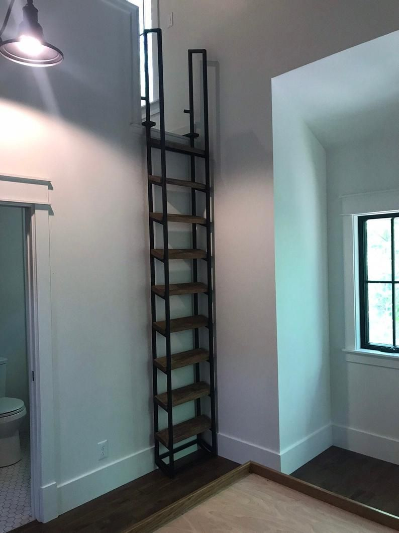 10ft Loft Ladder Librarian Free Shipping To Your Door Etsy In 2020 Loft Ladder Ladder Stairs Design