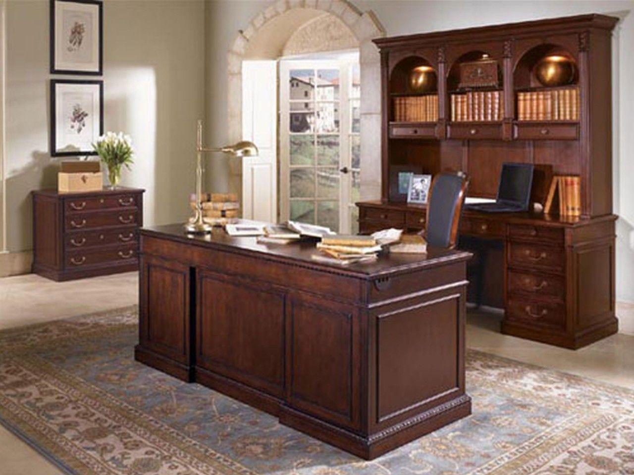Charming home office furniture ideas scheme heavenly home - Small office setup ideas ...