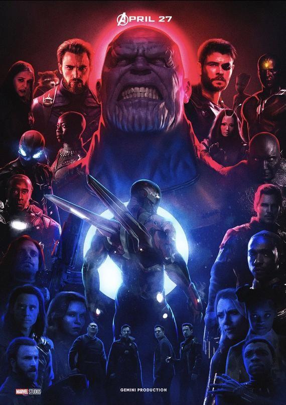 Avengers Infinity War Artwork Movie Cover Poster