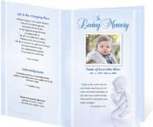 This Funeral Program Template Is A Perfect Choice For A Baby Or