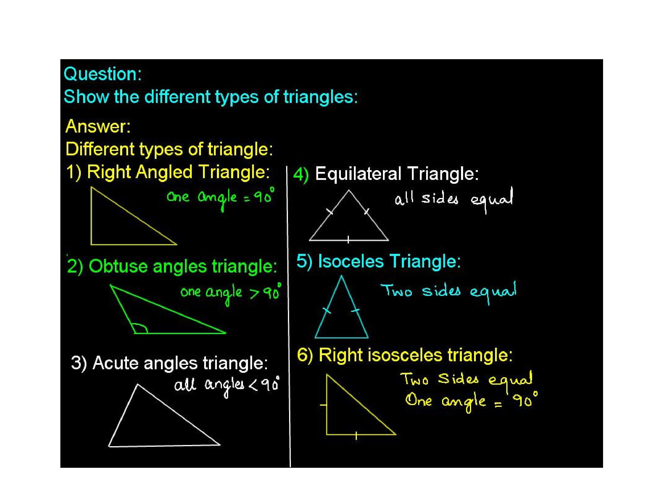 Type Of Triangle