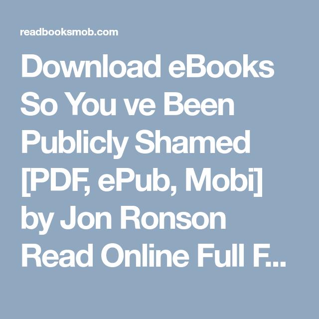 Jon Ronson Epub