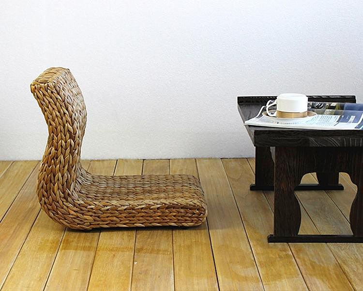 Delightful Aliexpress.com : Buy Handmade Japanese Floor Legless Chair Made From Banana  Leaves Sitting Room