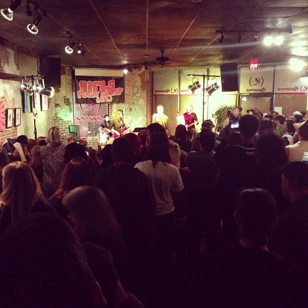 Standing room only for Ladies Rock Camp Showcase at Kavarna.  ROCK ON LADIES.