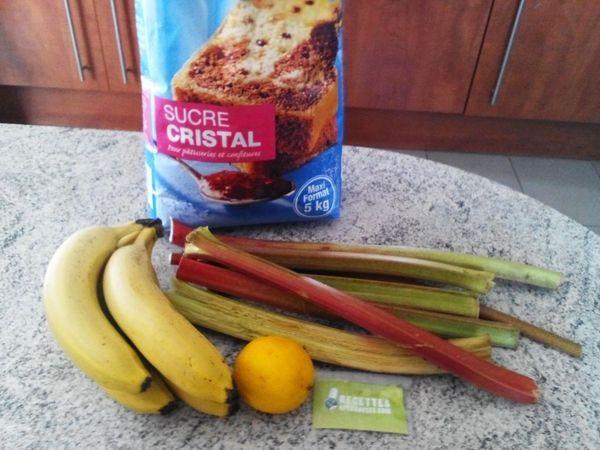 Regalez Vous Avec Cette Recette Confiture Rhubarbe Banane